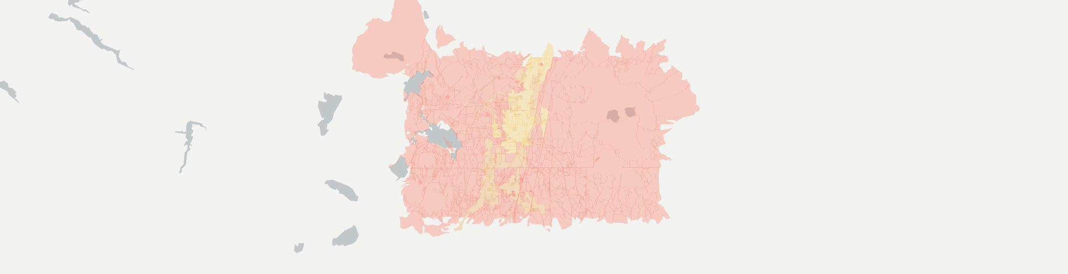 La Pine Internet Competition Map. Click for interactive map.