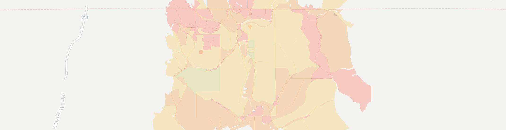 Eldred Internet Competition Map. Click for interactive map.