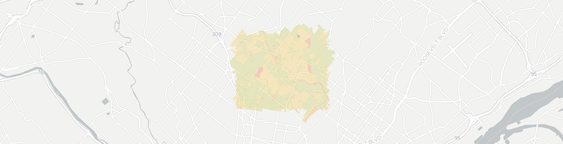 Elkins Park Internet Competition Map. Click for interactive map.