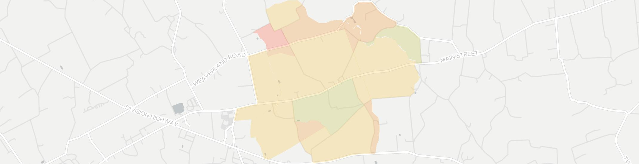 Goodville Internet Competition Map. Click for interactive map.