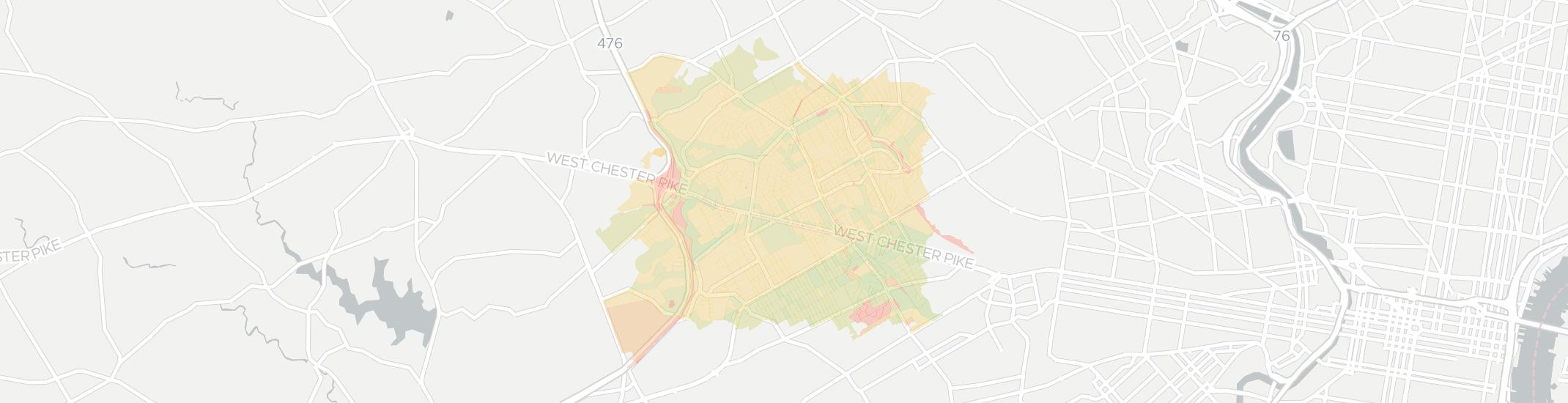Havertown Internet Competition Map. Click for interactive map.