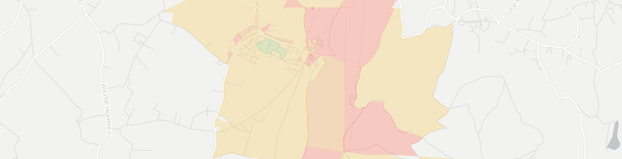 Mont Alto Internet Competition Map. Click for interactive map.