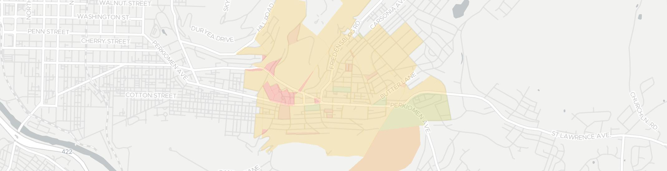 Mount Penn Internet Competition Map. Click for interactive map.