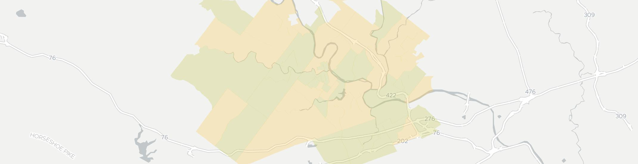 Phoenixville Internet Competition Map. Click for interactive map.