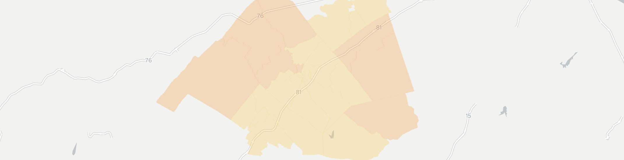 Shippensburg Internet Competition Map. Click for interactive map.