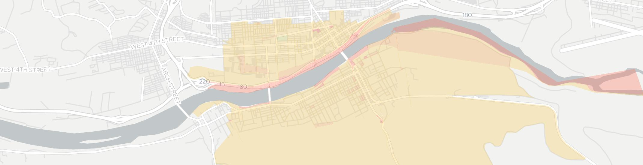 South Williamsport Internet Competition Map. Click for interactive map.