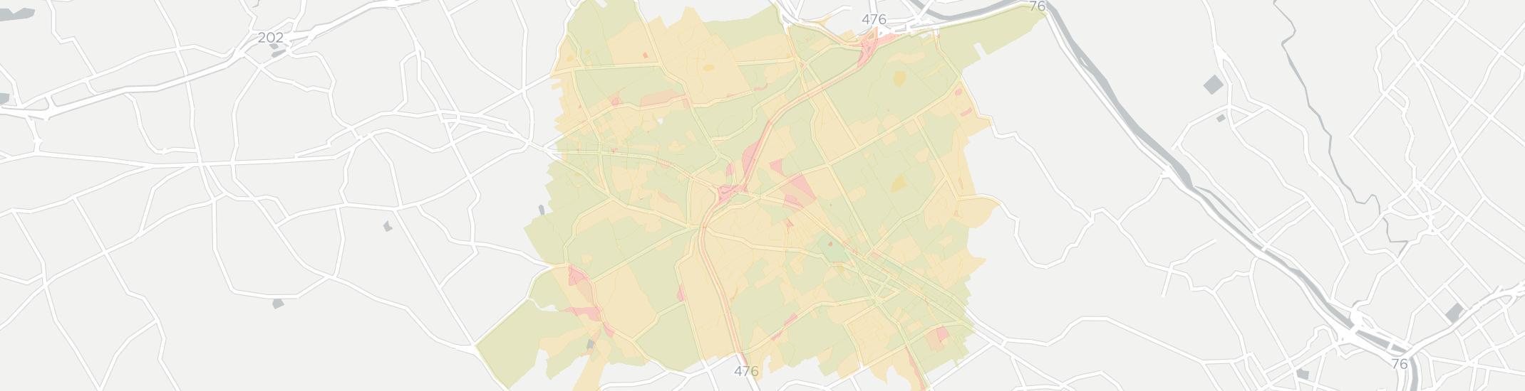 Villanova Internet Competition Map. Click for interactive map.