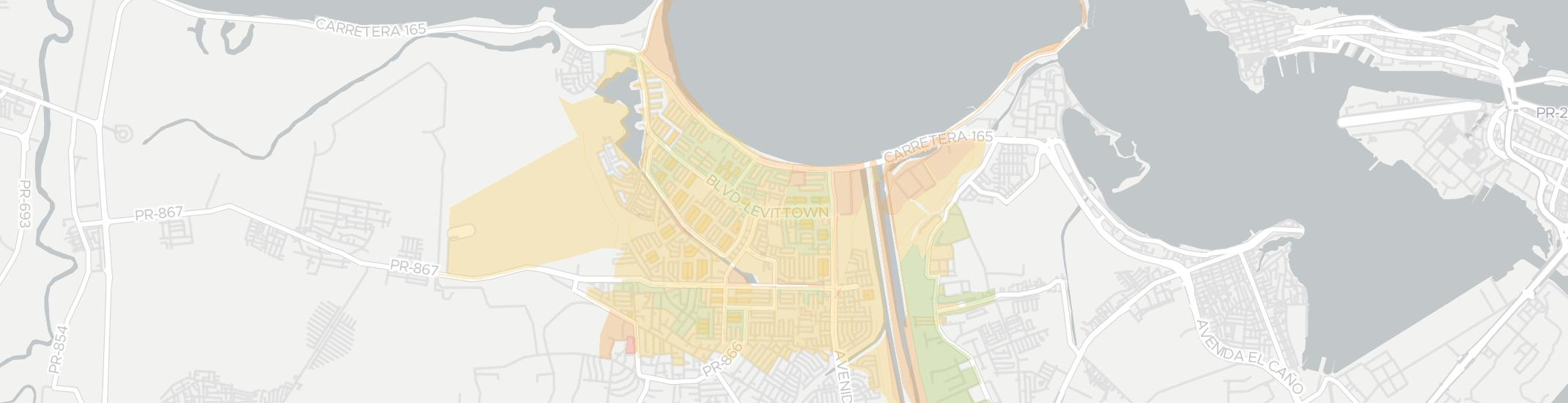 Levittown Internet Competition Map. Click for interactive map.