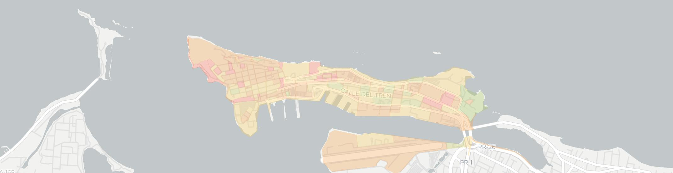 Old San Juan Internet Competition Map. Click for interactive map.