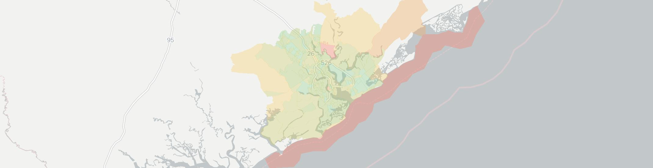 Charleston Internet Competition Map. Click for interactive map.