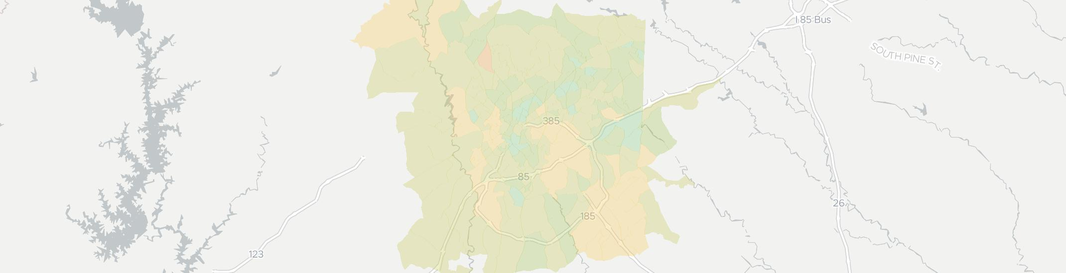 Greenville Internet Competition Map. Click for interactive map.