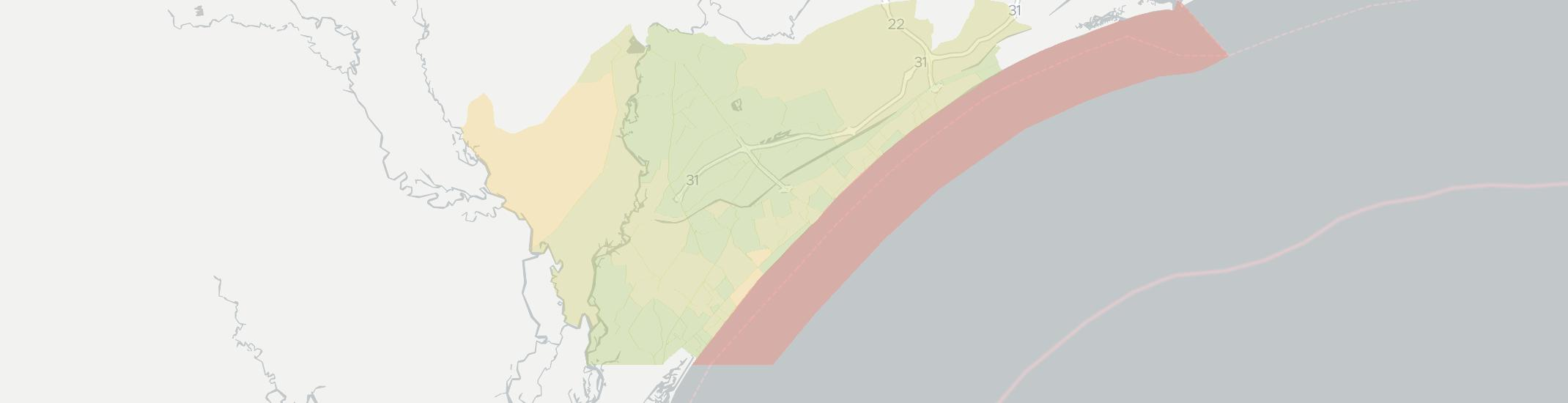 Myrtle Beach Internet Competition Map. Click for interactive map.