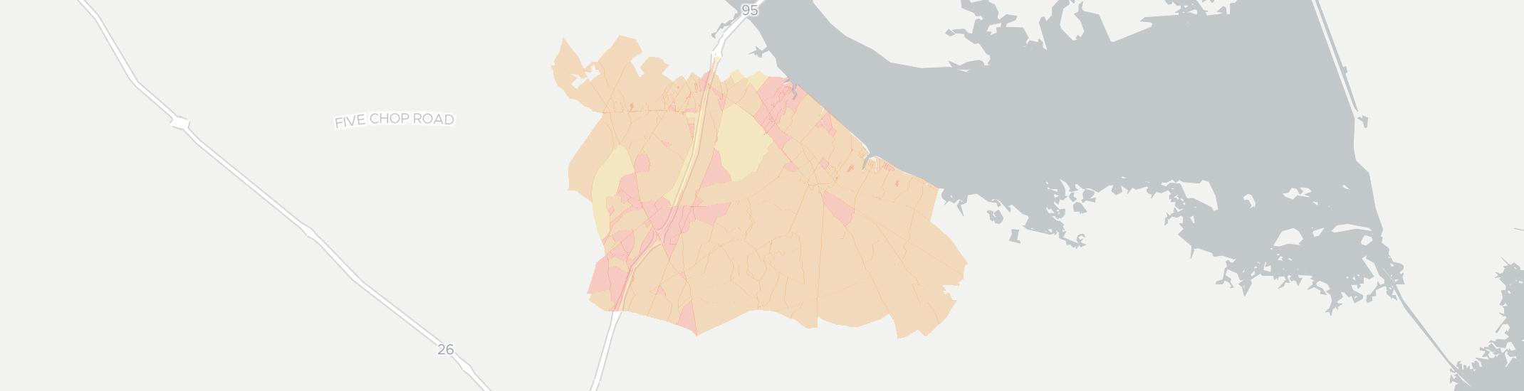 Vance Internet Competition Map. Click for interactive map.