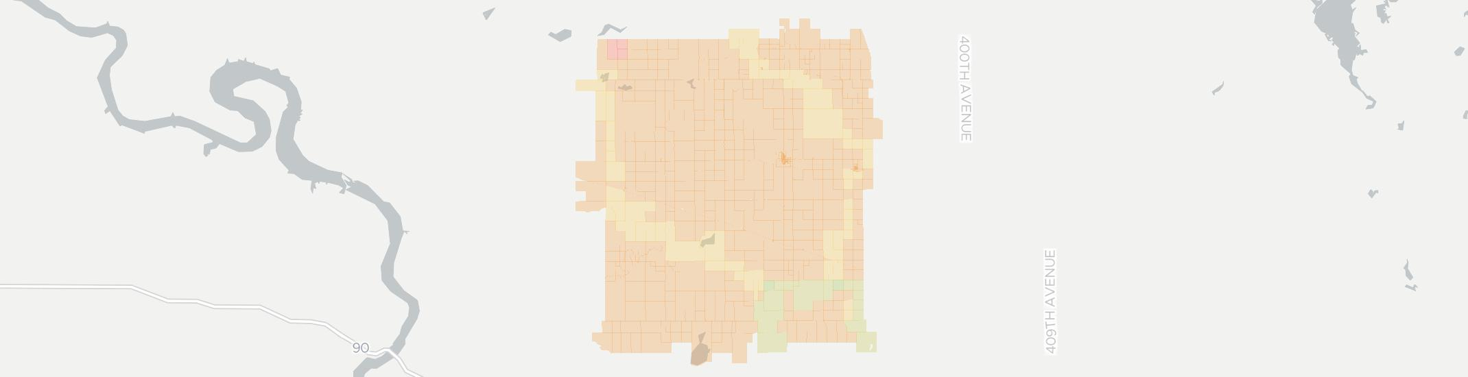 Wessington Springs Internet Competition Map. Click for interactive map.