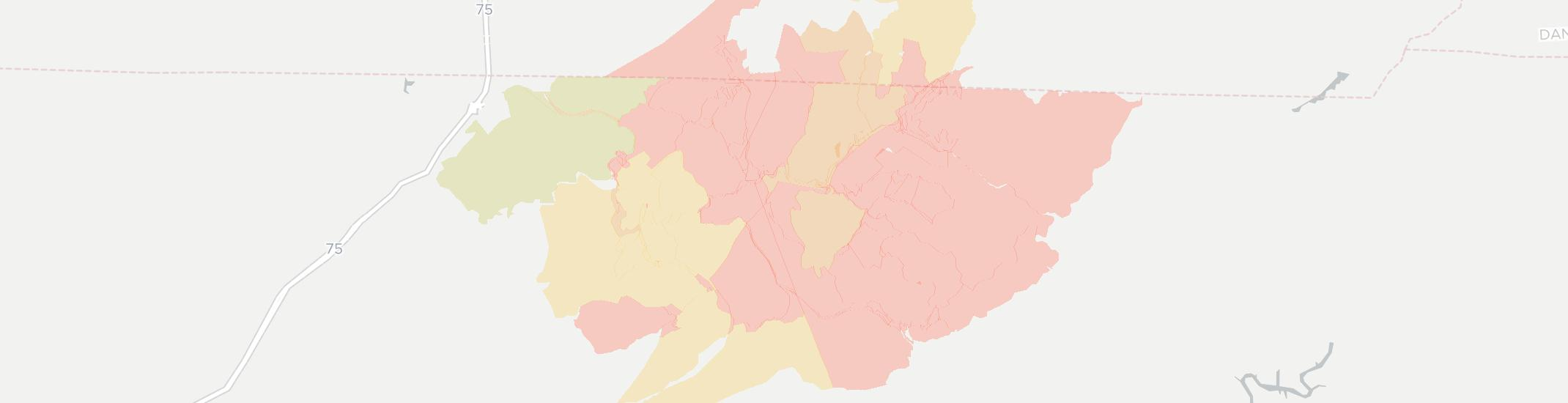 Clairfield Internet Competition Map. Click for interactive map.