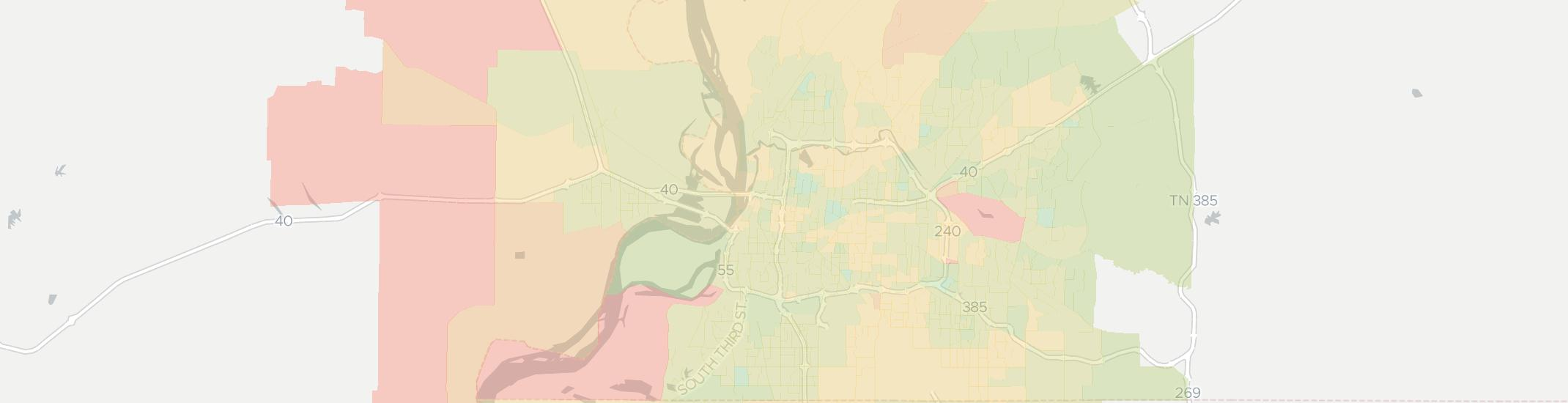 Memphis Internet Competition Map. Click for interactive map.
