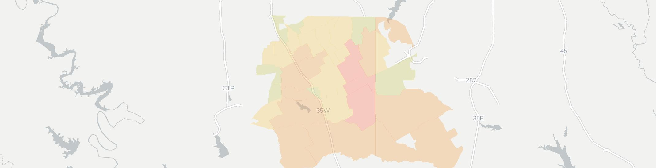 Alvarado Internet Competition Map. Click for interactive map.
