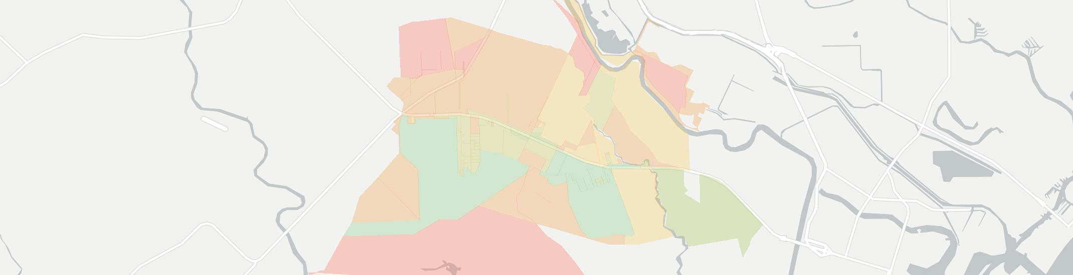 Jones Creek Internet Competition Map. Click for interactive map.
