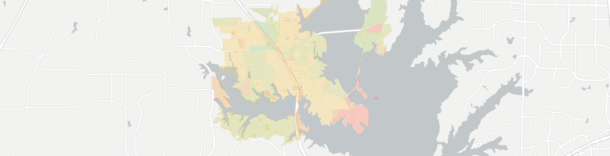 Lake Dallas Internet Competition Map. Click for interactive map.