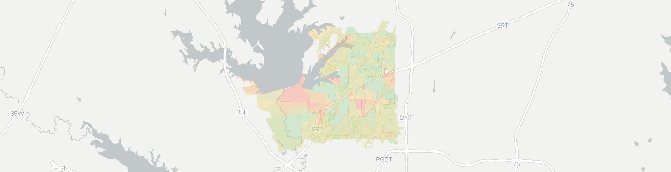 The Colony Internet Competition Map. Click for interactive map.