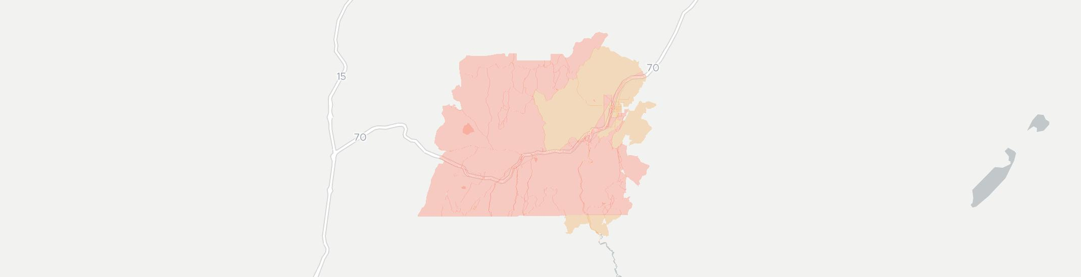 Sevier Internet Competition Map. Click for interactive map.