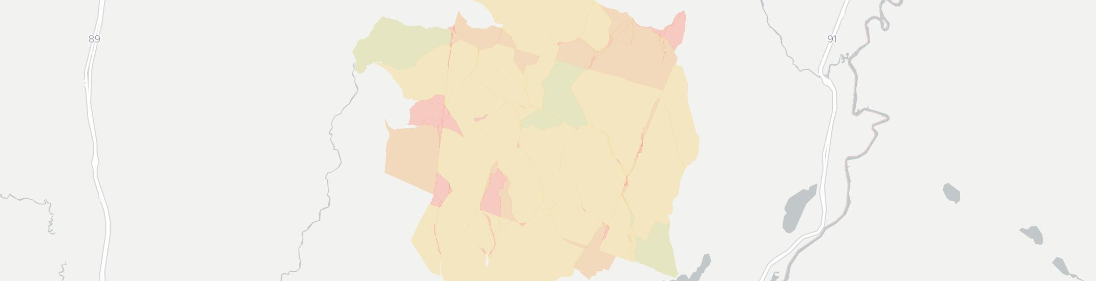 Vershire Internet Competition Map. Click for interactive map.