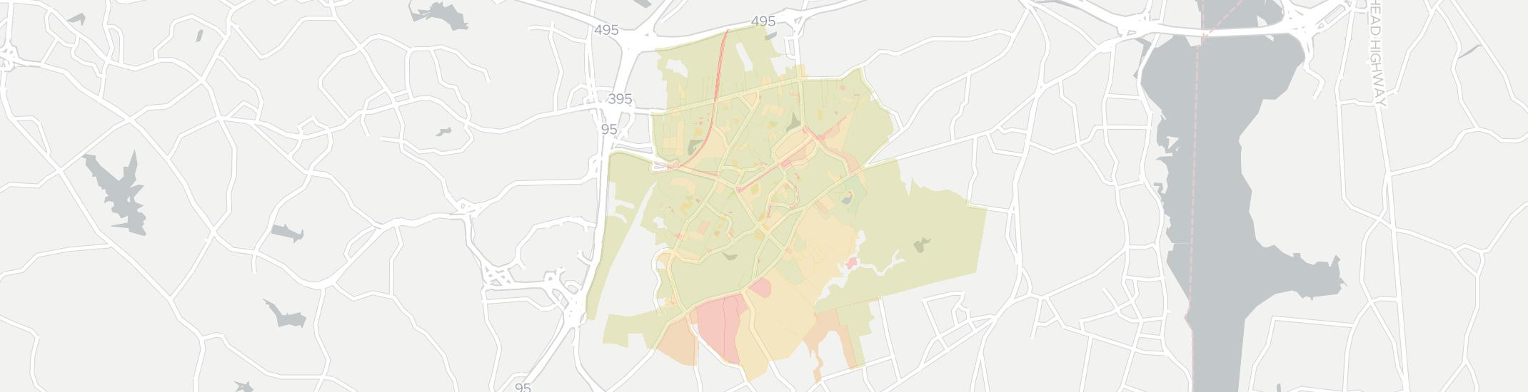 Kingstowne Internet Competition Map. Click for interactive map.