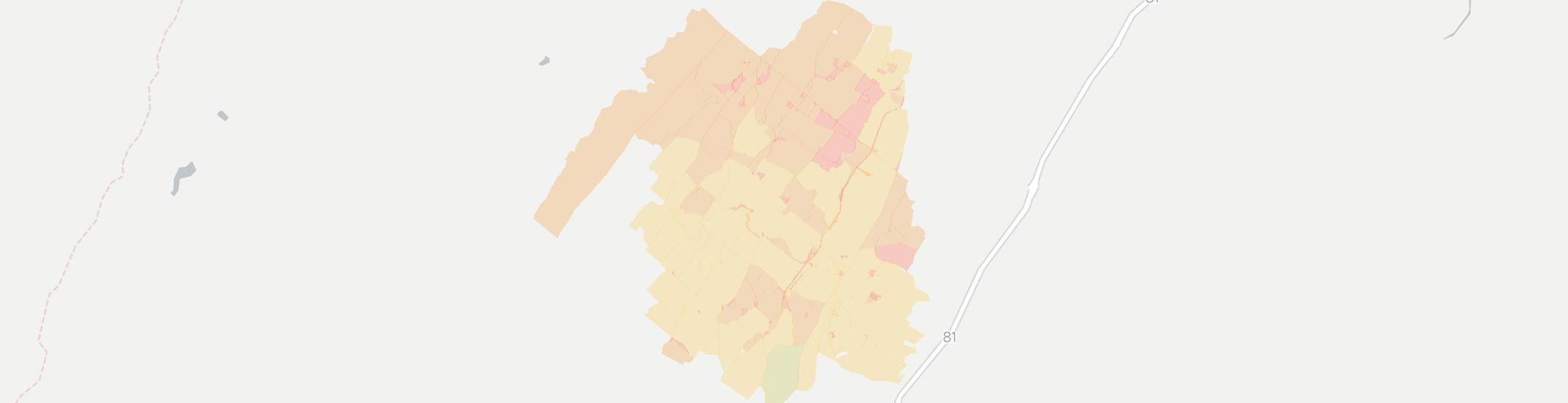 Linville Internet Competition Map. Click for interactive map.