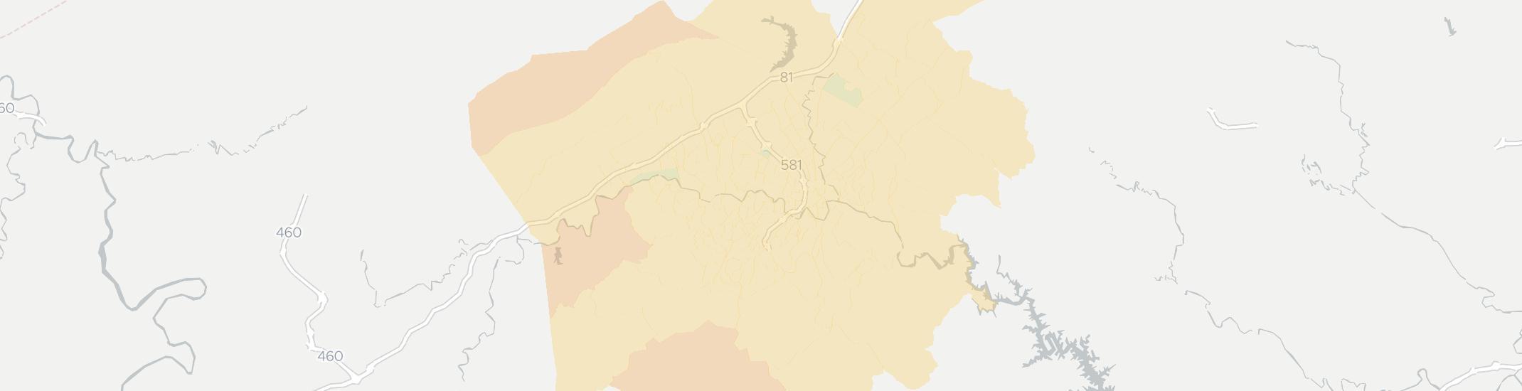 Roanoke Zip Code Map.Roanoke Va Has 21 Internet Service Providers Broadbandnow Com