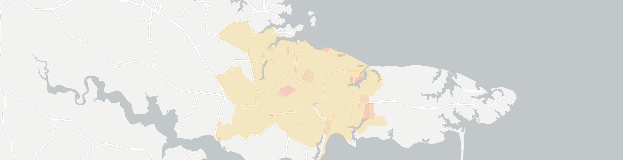 Wake Internet Competition Map. Click for interactive map.