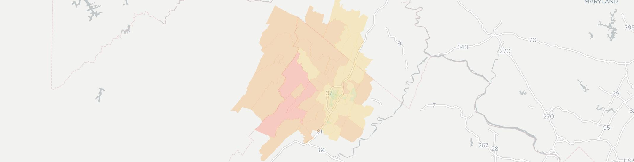 Winchester Internet Competition Map. Click for interactive map.