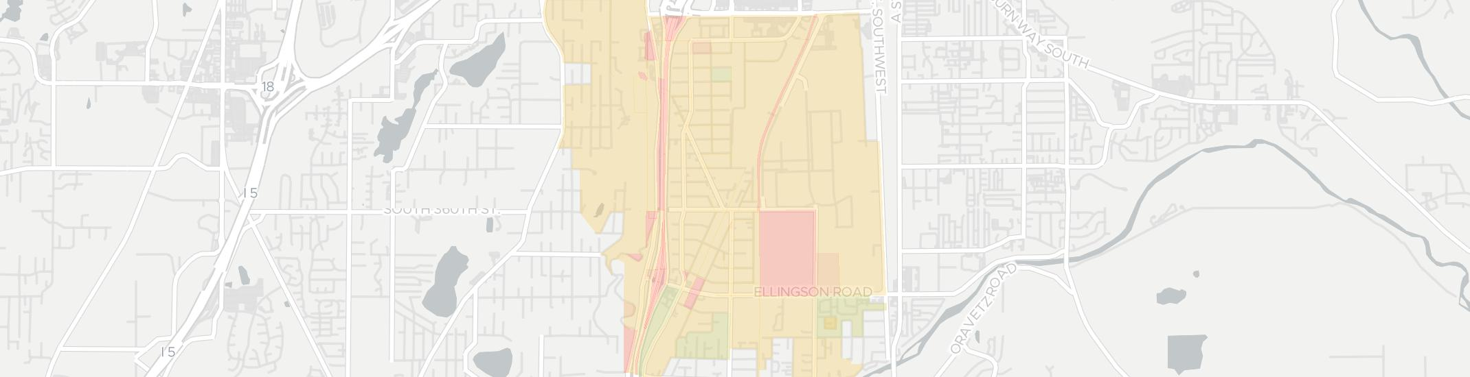 Algona Internet Competition Map. Click for interactive map.