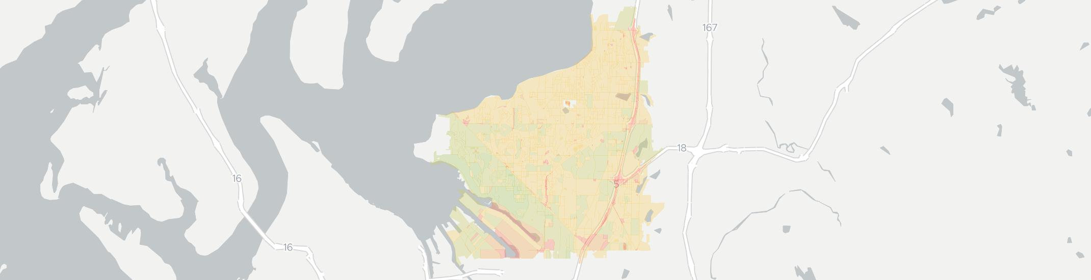 Federal Way Internet Competition Map. Click for interactive map.