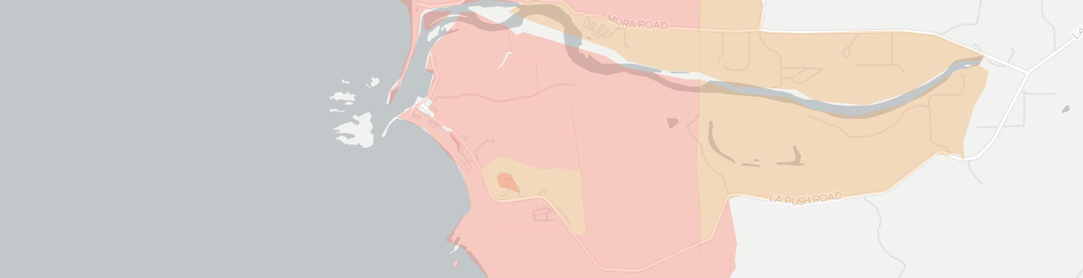 La Push Internet Competition Map. Click for interactive map.