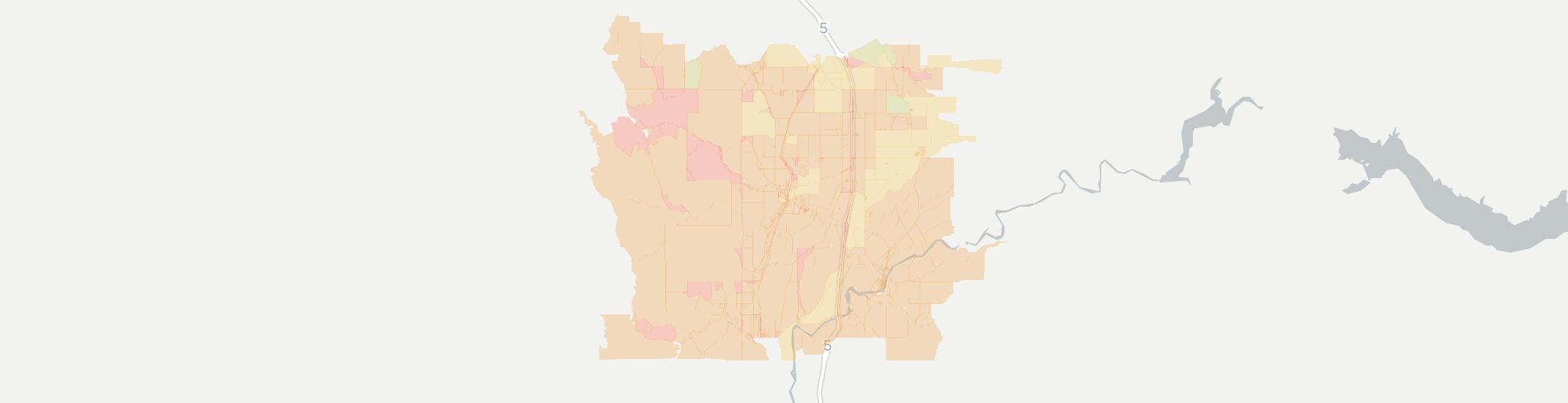 Winlock Internet Competition Map. Click for interactive map.