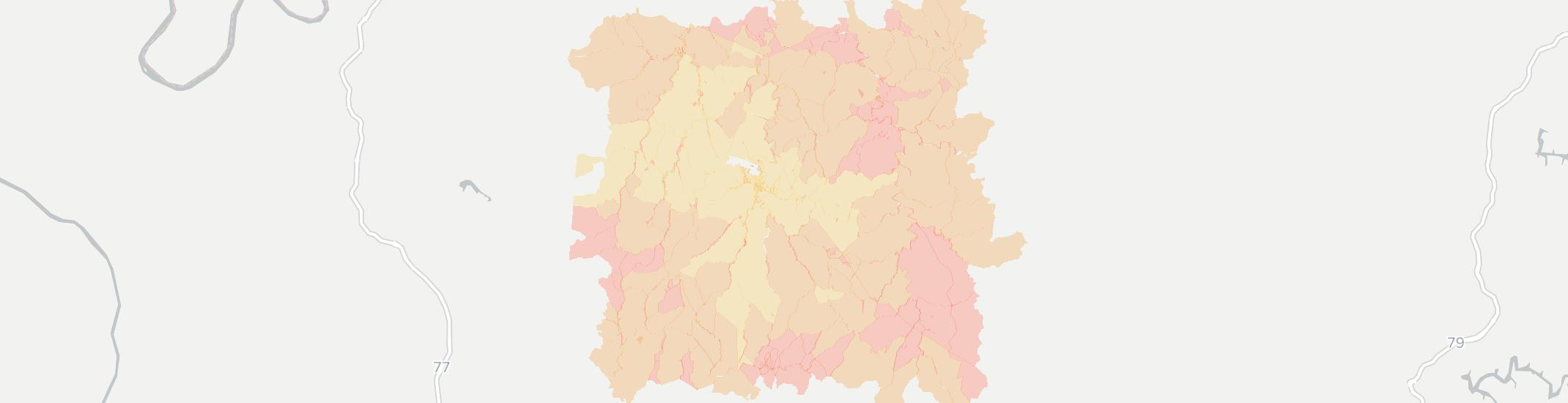 Spencer Internet Competition Map. Click for interactive map.