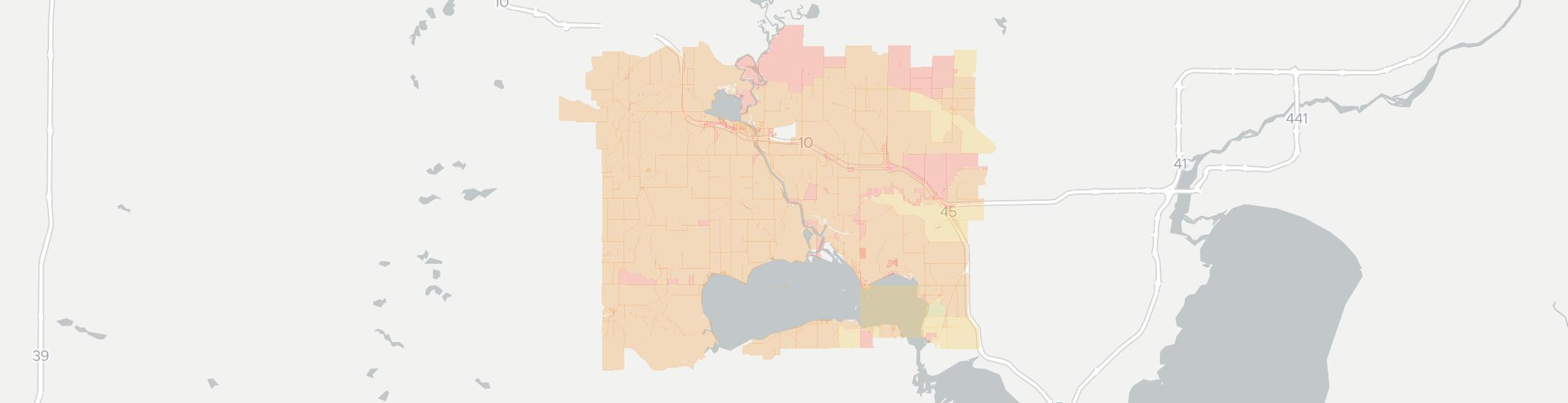 Fremont Internet Competition Map. Click for interactive map.