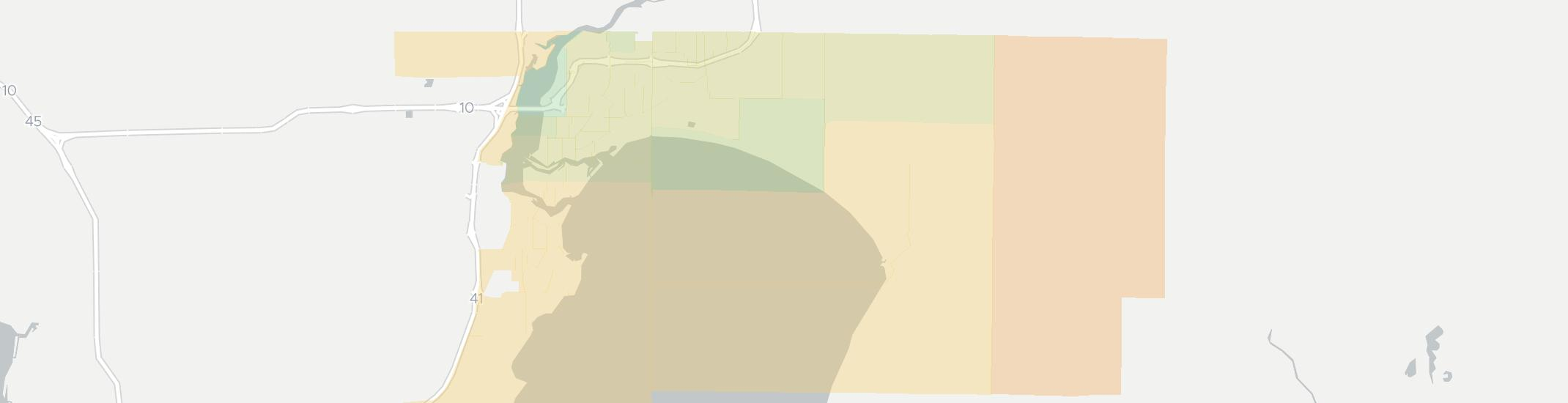 Menasha Internet Competition Map. Click for interactive map.