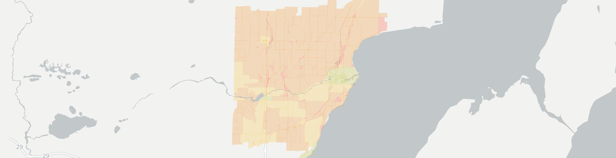 Oconto Internet Competition Map. Click for interactive map.