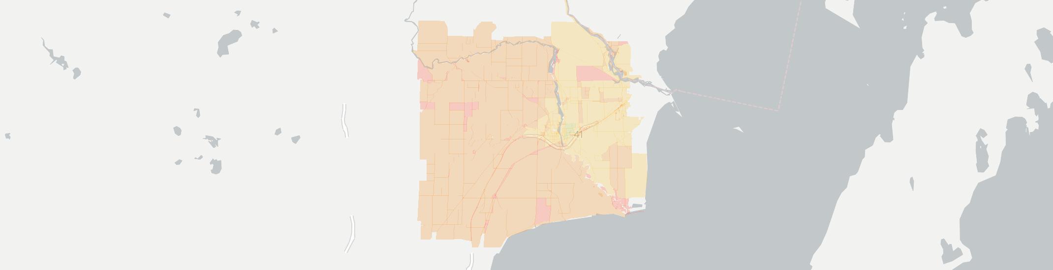 Peshtigo Internet Competition Map. Click for interactive map.