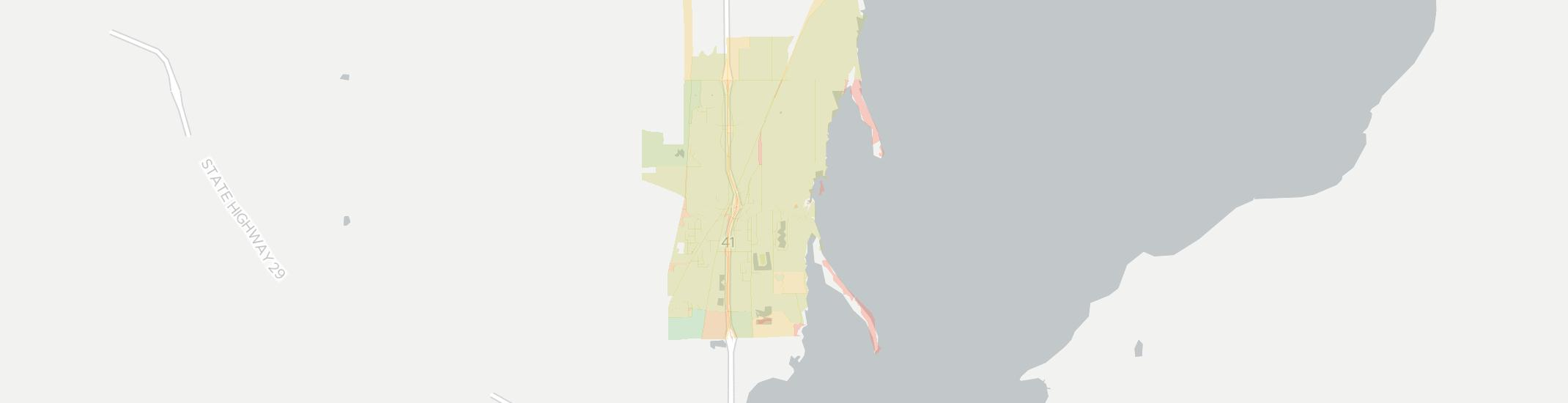 Suamico Internet Competition Map. Click for interactive map.