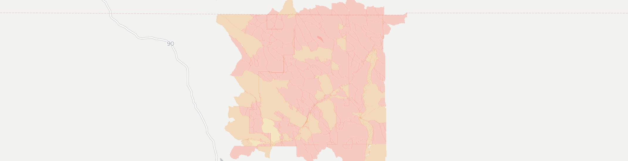 Clearmont Internet Competition Map. Click for interactive map.