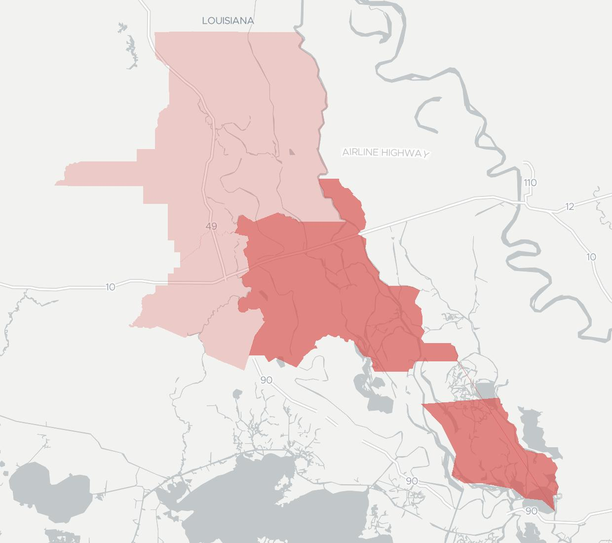 Acadiana Wireless Availability Map. Click for interactive map.
