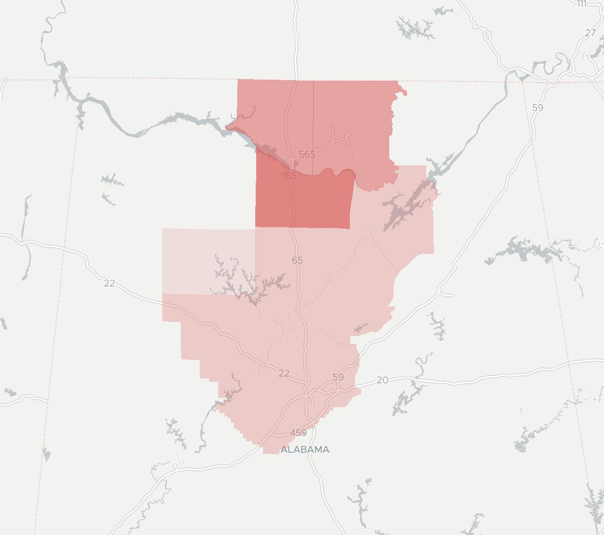 Advanced Broadband Availability Map. Click for interactive map.
