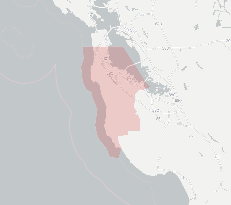 Atherton Fiber Availability Map. Click for interactive map.