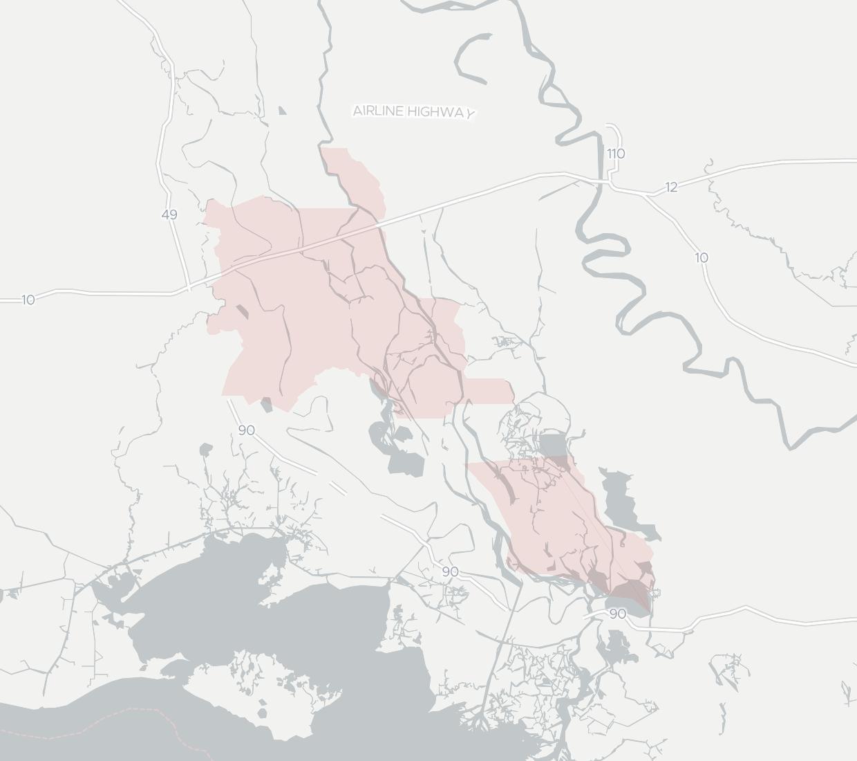 Cajun Broadband Availability Map. Click for interactive map.