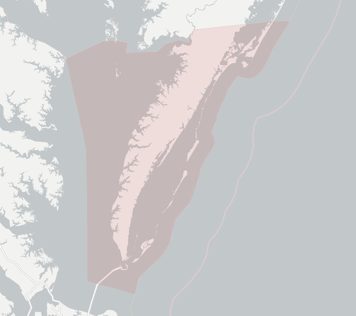 Chesapeake Bay Communications Availability Map. Click for interactive map.