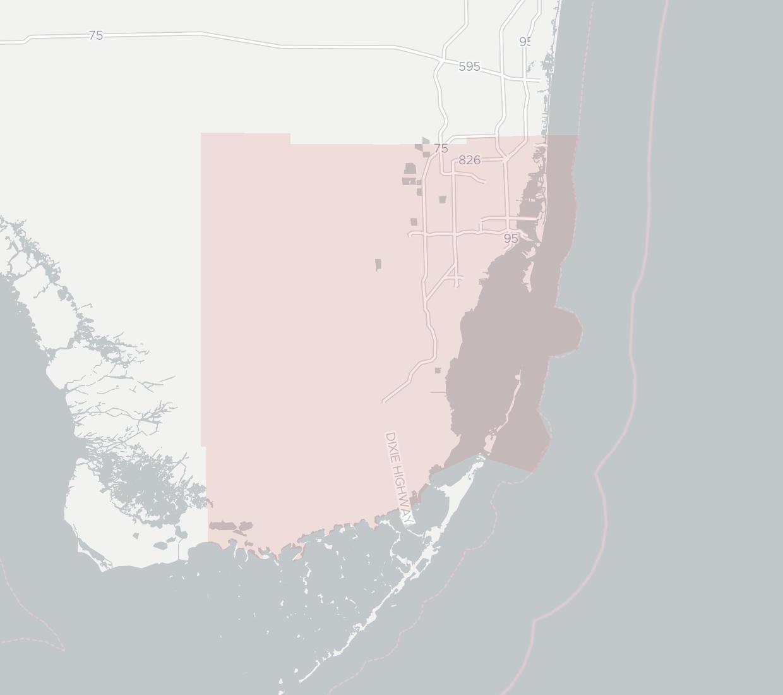 South Florida Highway Map.South Florida Digital Alliance Business Internet Provider