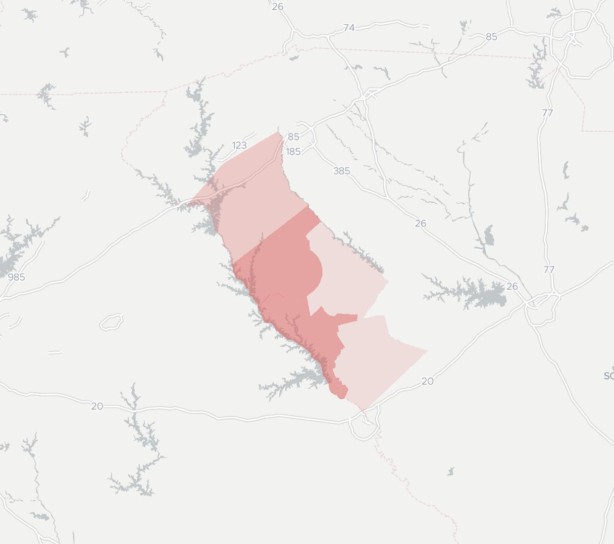 West Carolina Tel Availability Map. Click for interactive map.