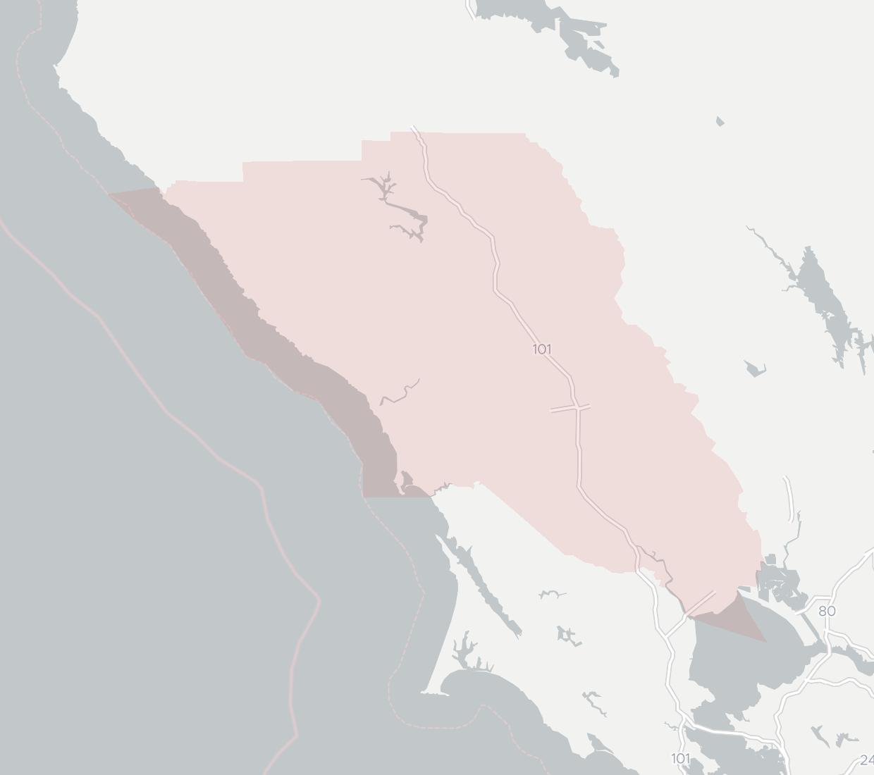 Western Sonoma County Internet Cooperative Coverage Map